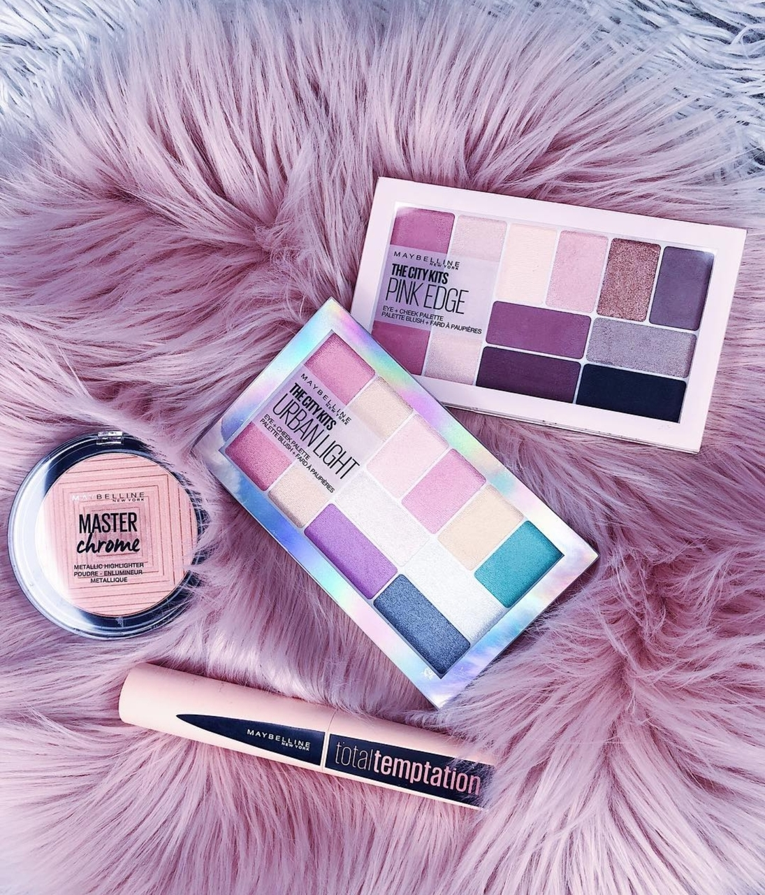 makeup, palette, pink vibes and maybelline