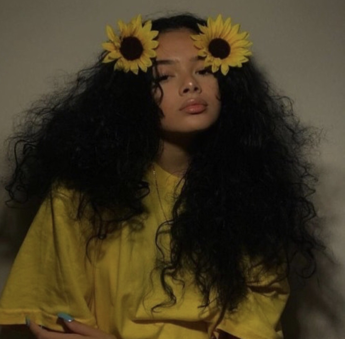 pretty, sunflower and girl