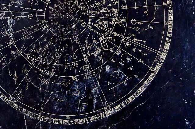 star map, stars and map