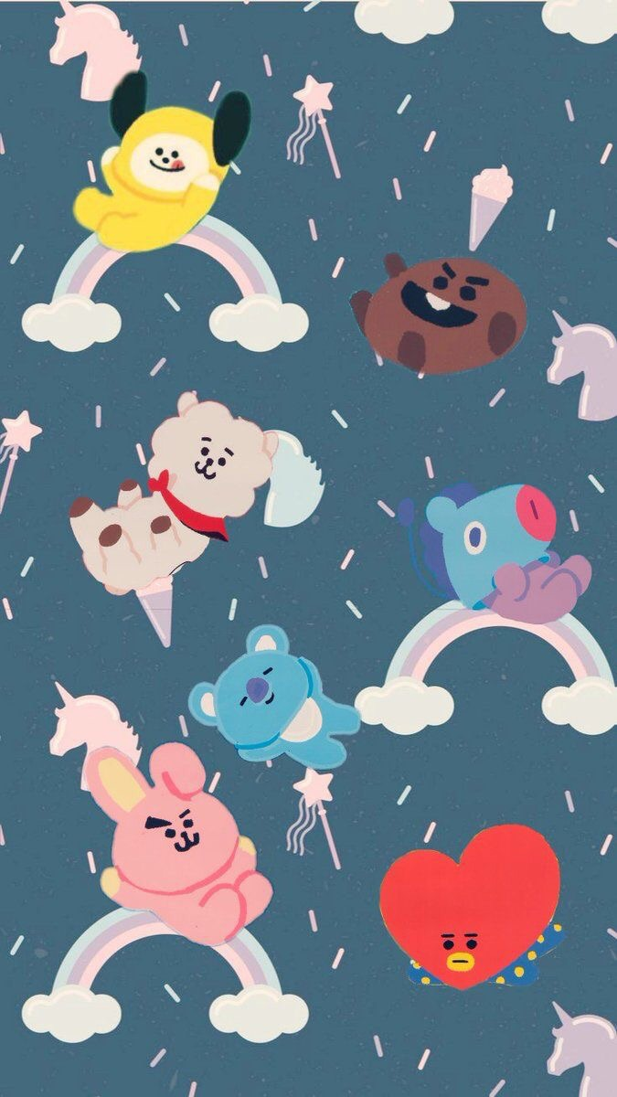 van, tata, bt21 and bangtan boys
