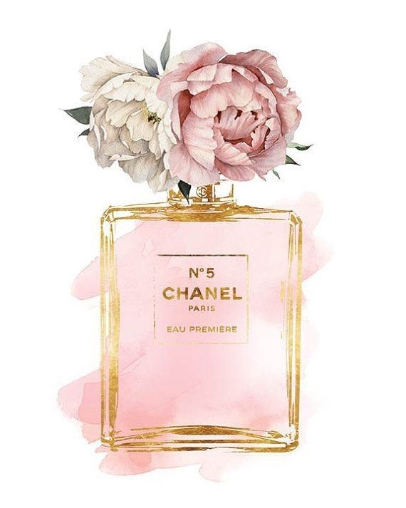 chic, art, peonies and chanel perfume