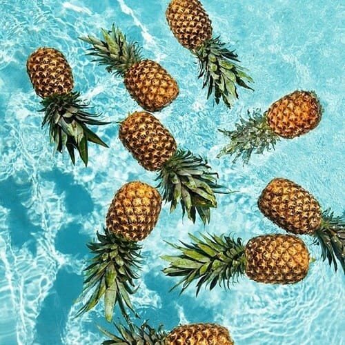 fitness, pool and pineapple