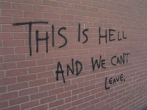 hell, leave and cant
