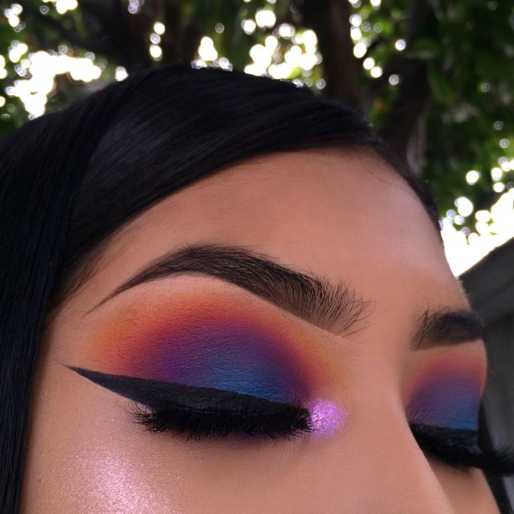 makeup, eyes and highlighter
