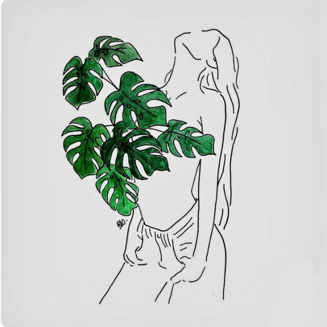 Nature Drawing Green And Leaves Image 6318574 On Favim Com