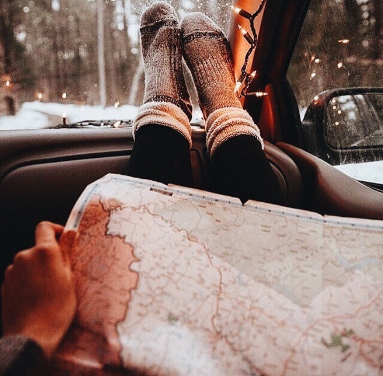 winter, map and aesthetic