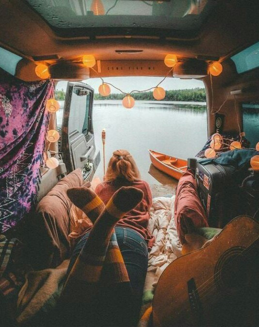 adventure, trip and guitar