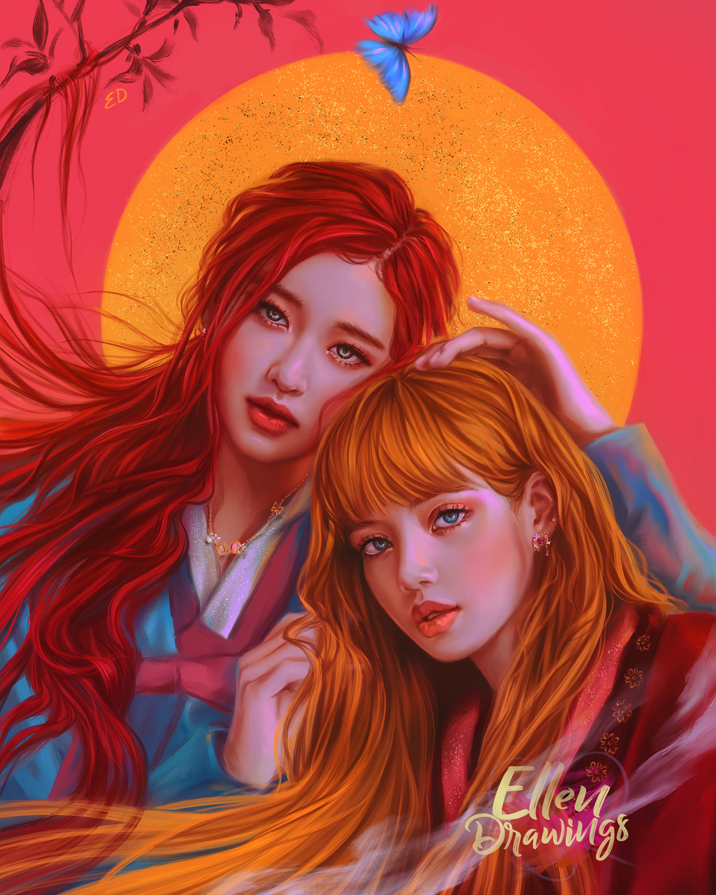 blackpink, painting and fanart