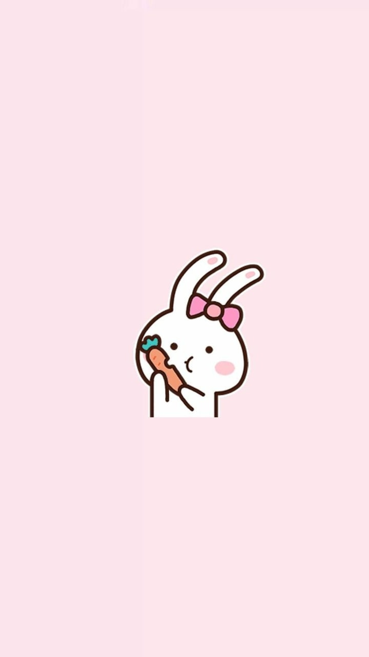 Cocoppa Wallpaper Pink Bunny And Pink Image 6312944 On Favim Com