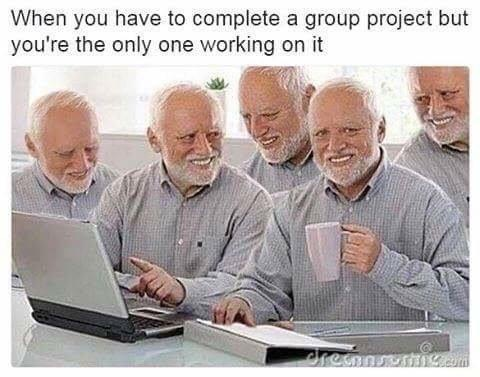 meme, assignments and slacking off