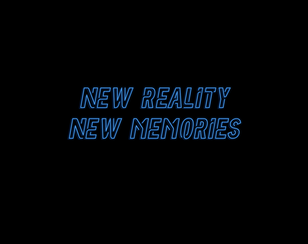 memories, neon and quote