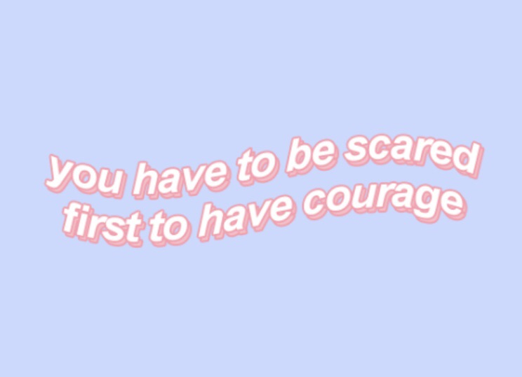 aesthetic, pink, scared and aesthetic quotes