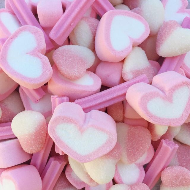 pastel, hearts and sweet