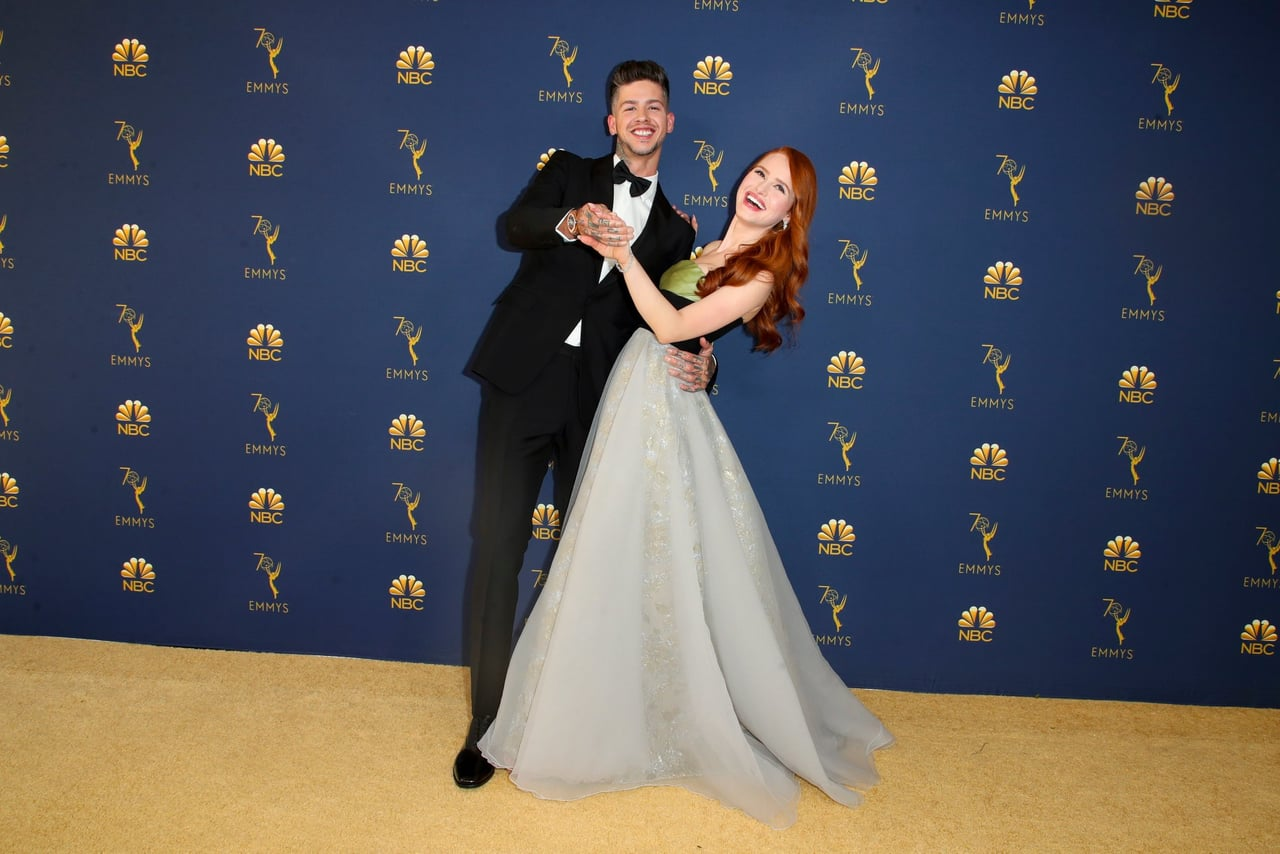travis mills, emmy, couple and madelaine petsch