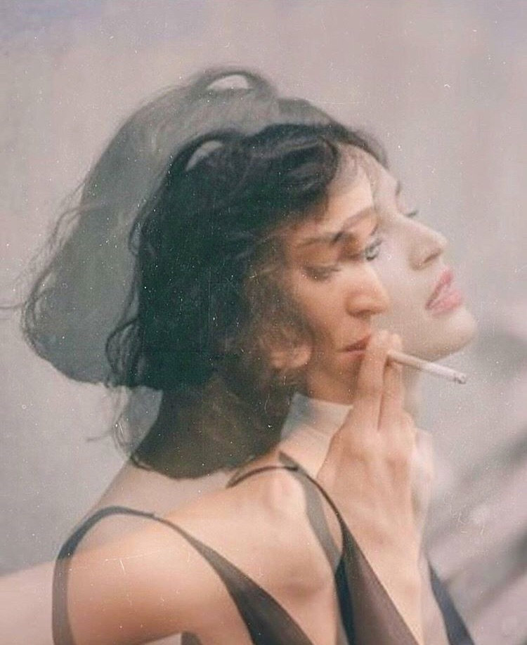artsy, cigarette and double exposure
