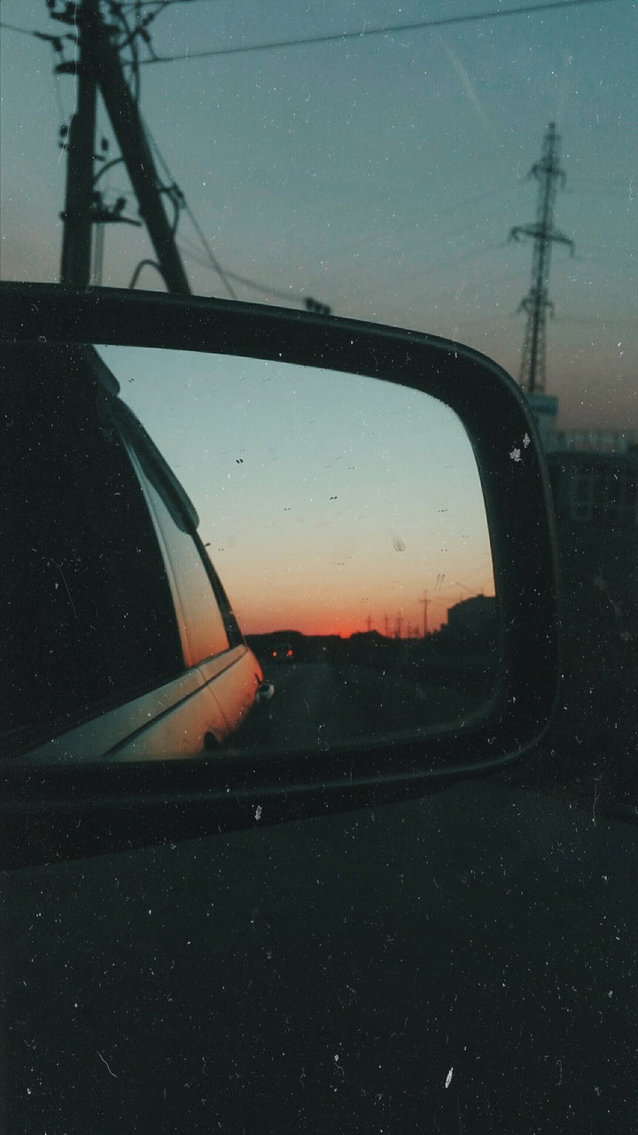 mirror, travel and car
