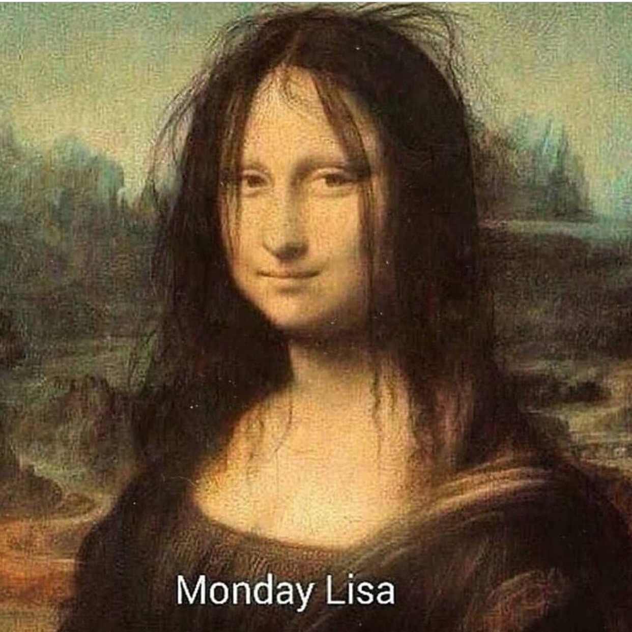 monalisa, monday and painting