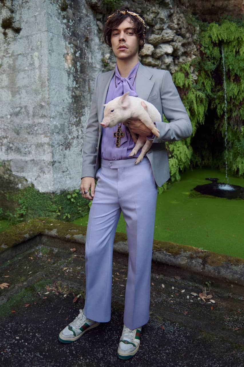styles, harry and gucci tailoring