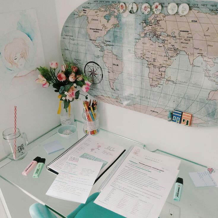 travel, globe and notes