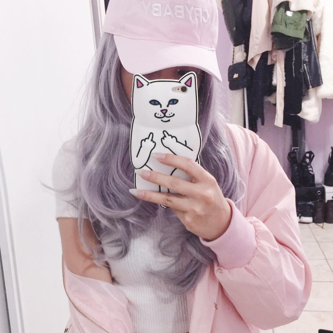 ulzzang girl, indie and purple