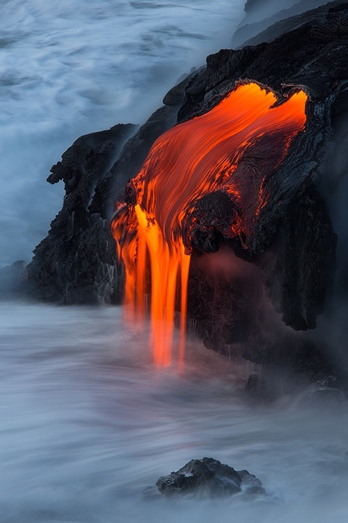 water, lava and nature