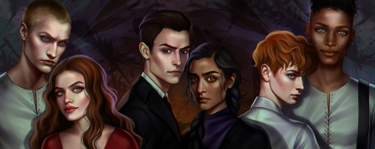 book illustration, book characters, six of crows and inej ghafa