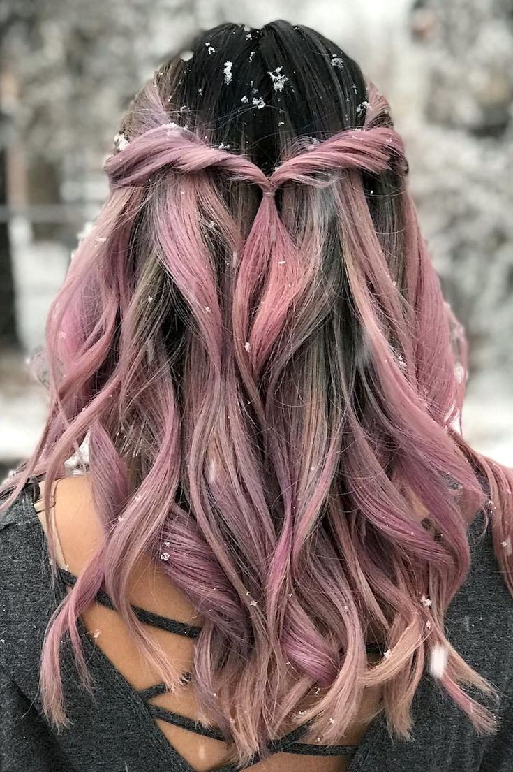 colorful, hairstyles, colored hair - image #6312813 on Favim.com