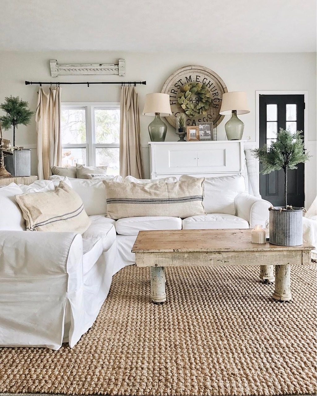 home, living room, country living and decorating