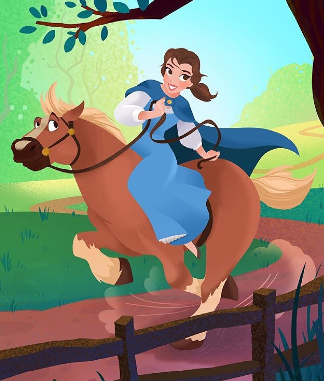 beauty and the beast, belle, art and disney
