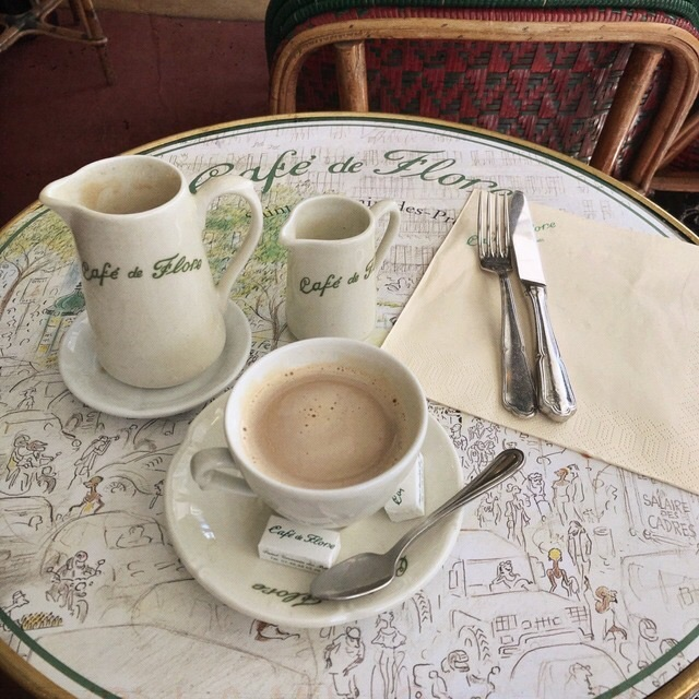 cafe, french, parisian and coffee