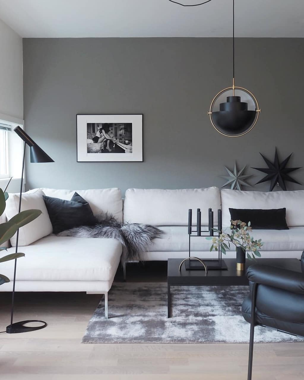 dcoration, living room, noir and salon