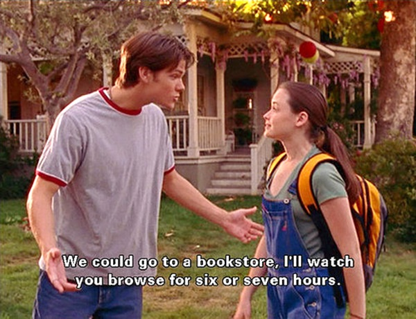 bookstore, gilmore girls and i39ll watch you browse