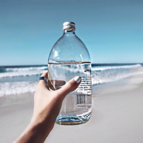 beach, beautiful, bottle and water bottle