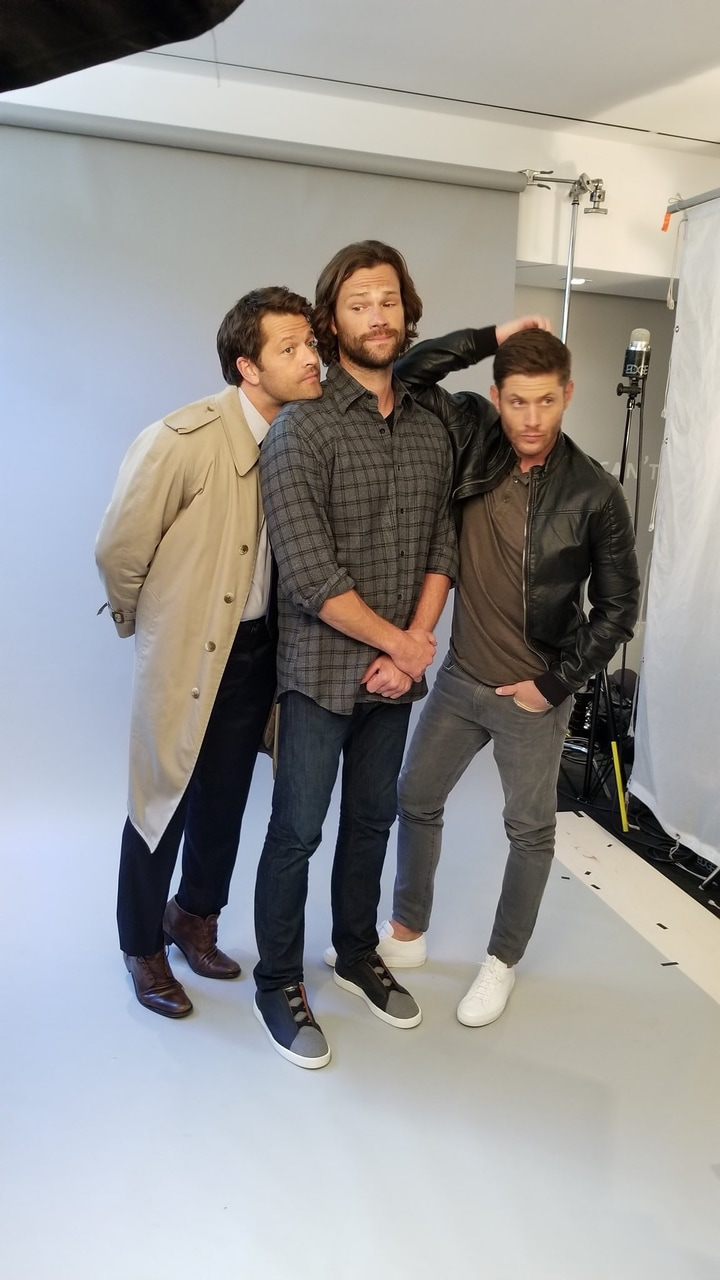 misha collins, tv guide and jensen ackles