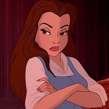beauty and the beast, cartoon, belle and cute profile pic
