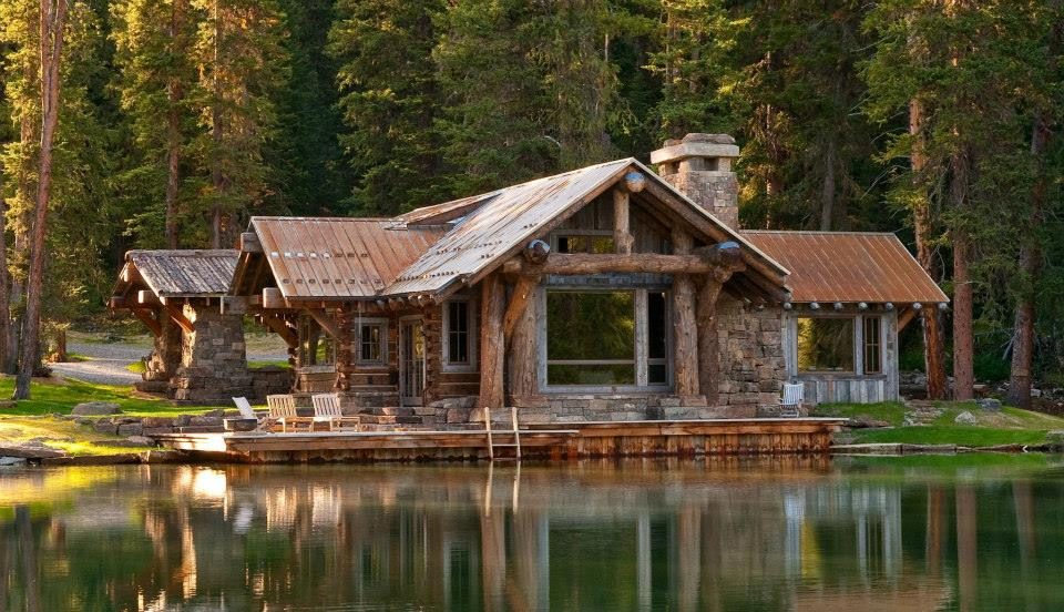 cabin, log cabin, forest and mountain living