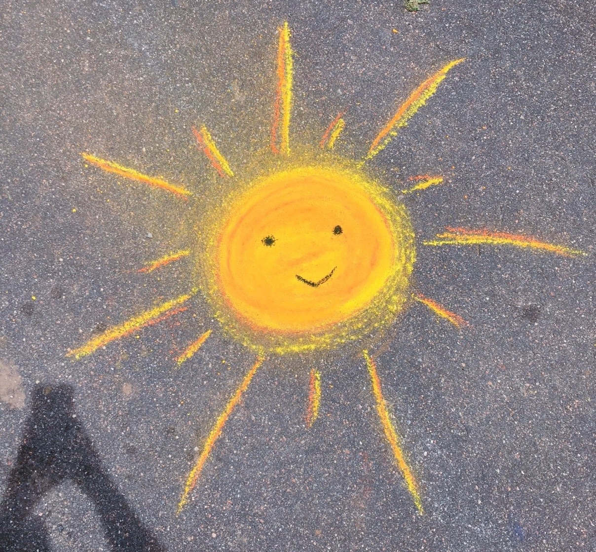 sun, chalk, cute and street