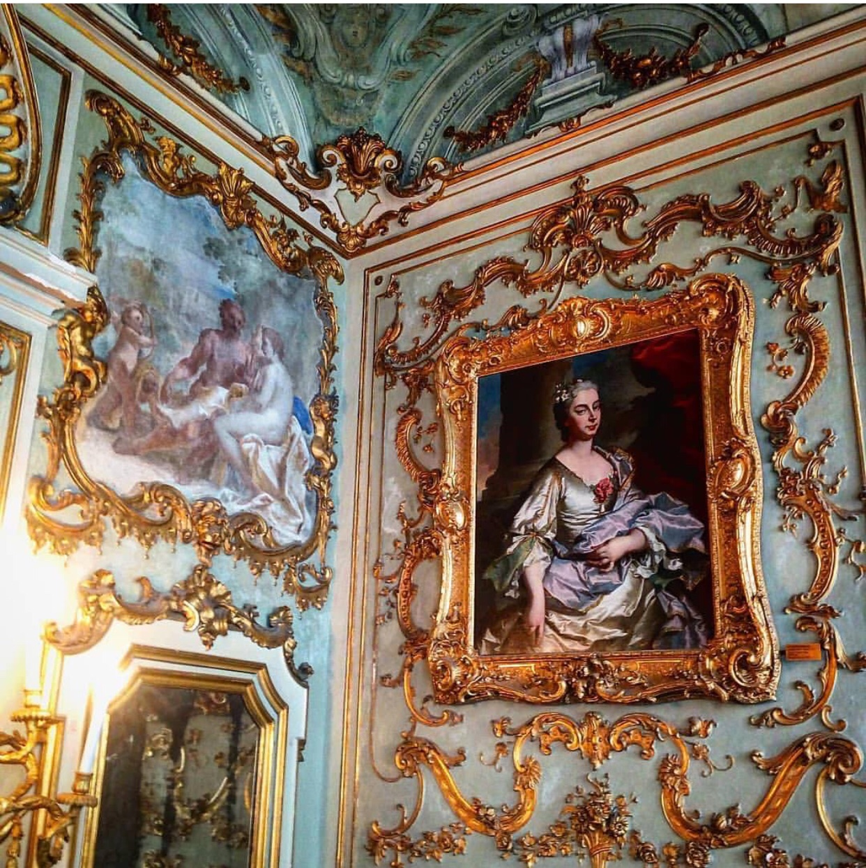 interior, castle, oil painting and classical