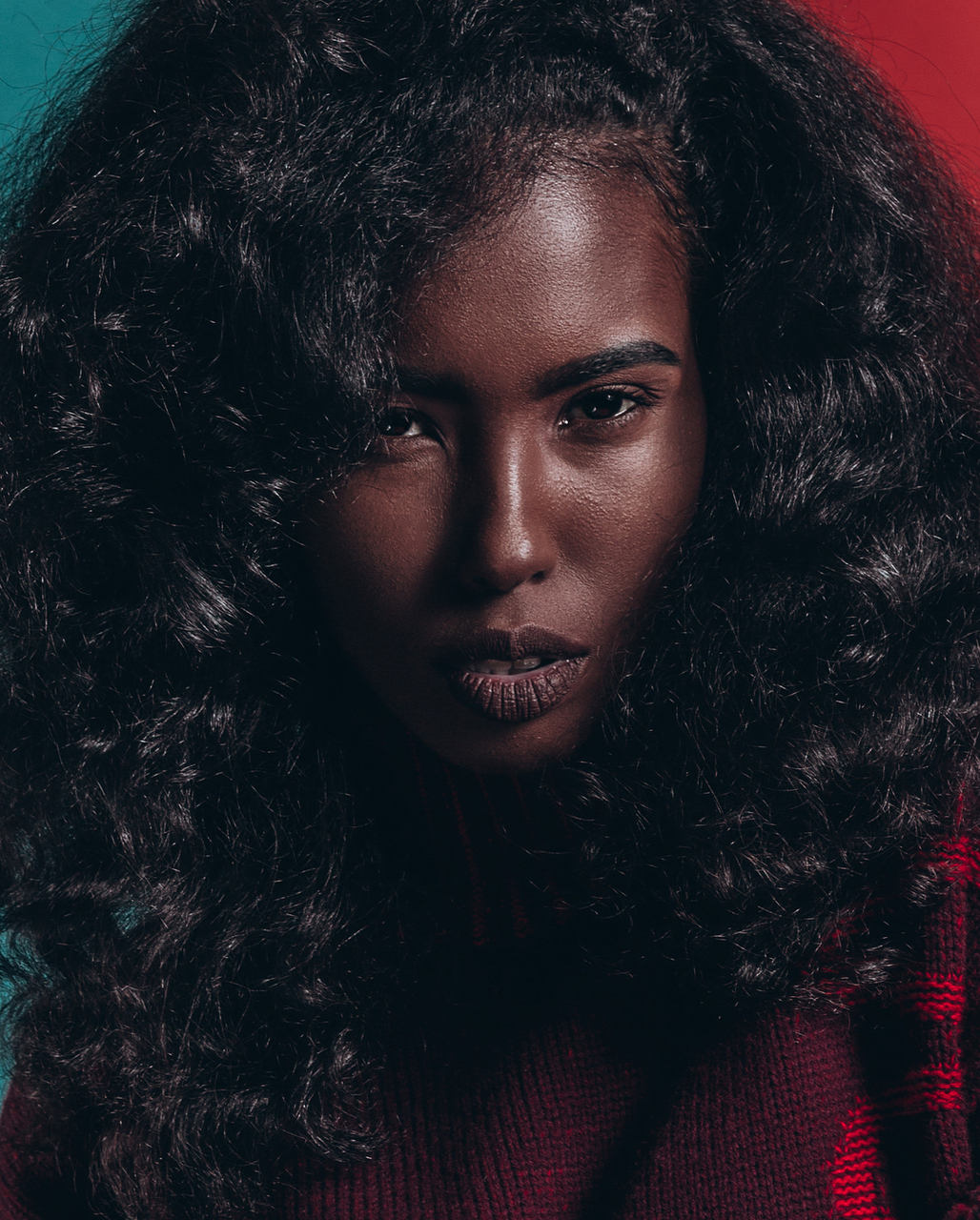 photography, texture, dark skin and curls