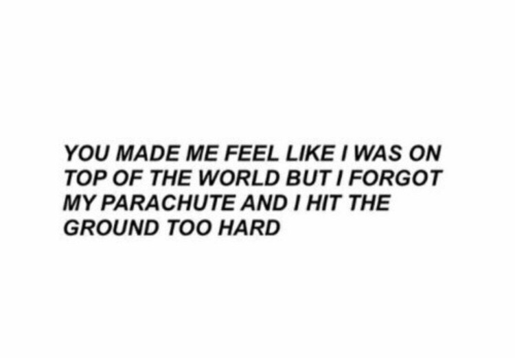 aesthetic sad quotes, world and parachute