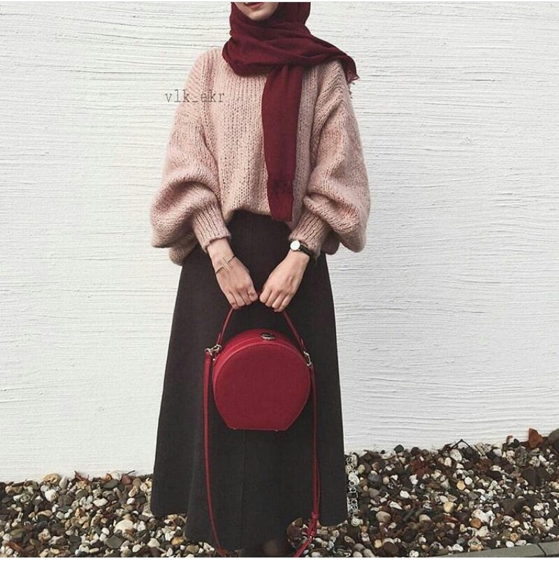 style, beauty, red and hijab