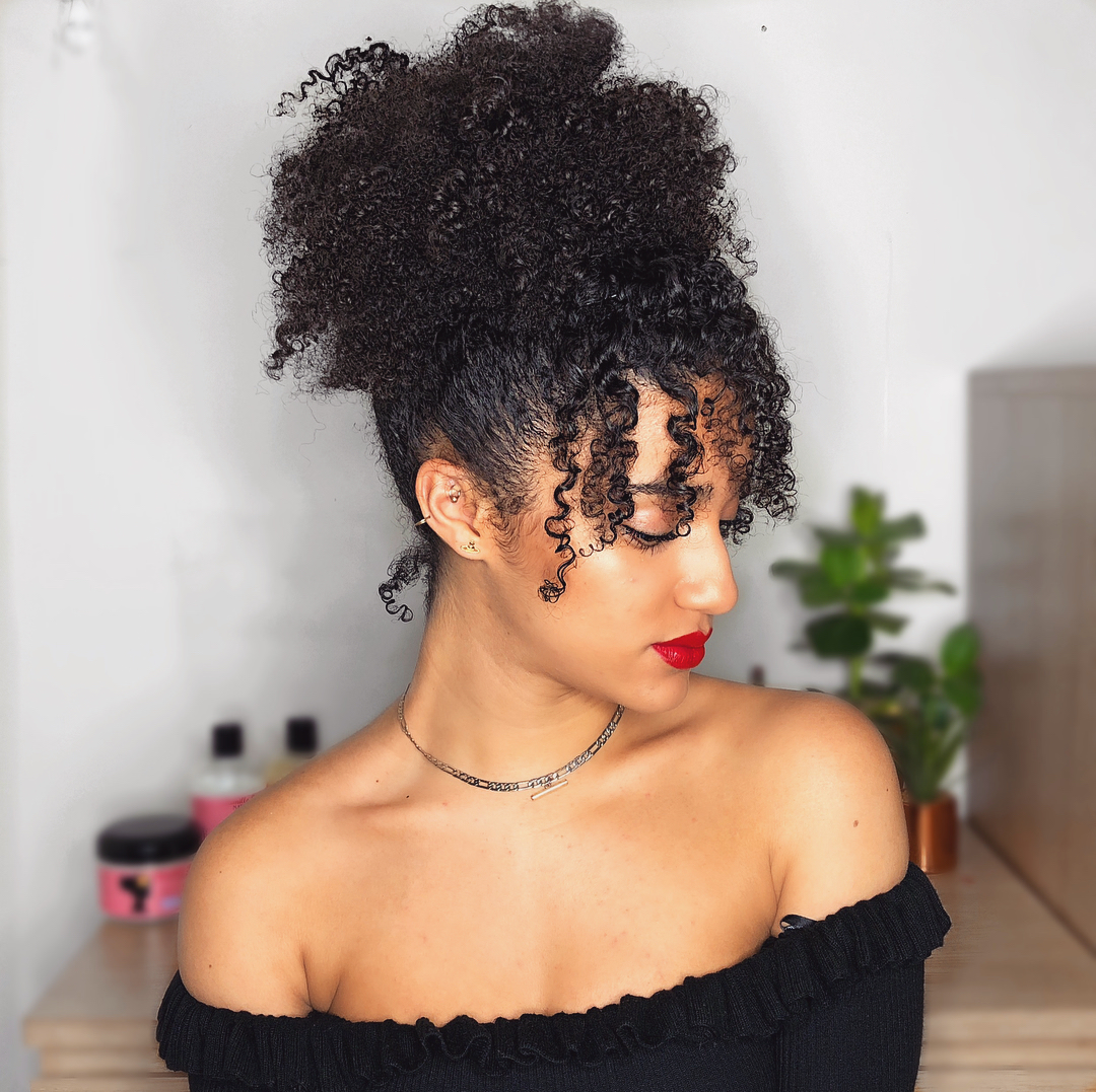 curly fringe, curly bangs, natural hair and curls
