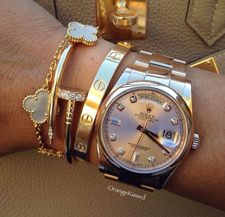 girl, jewelry and rolex