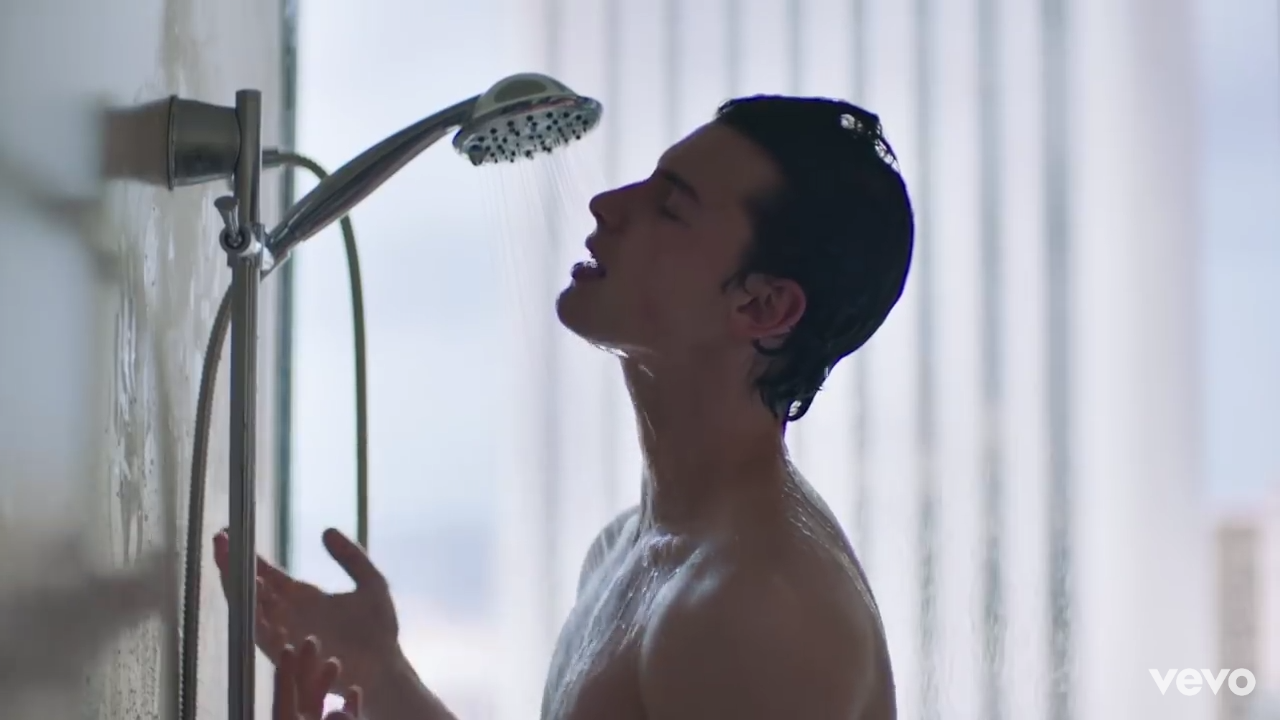 mendes, guy and shower