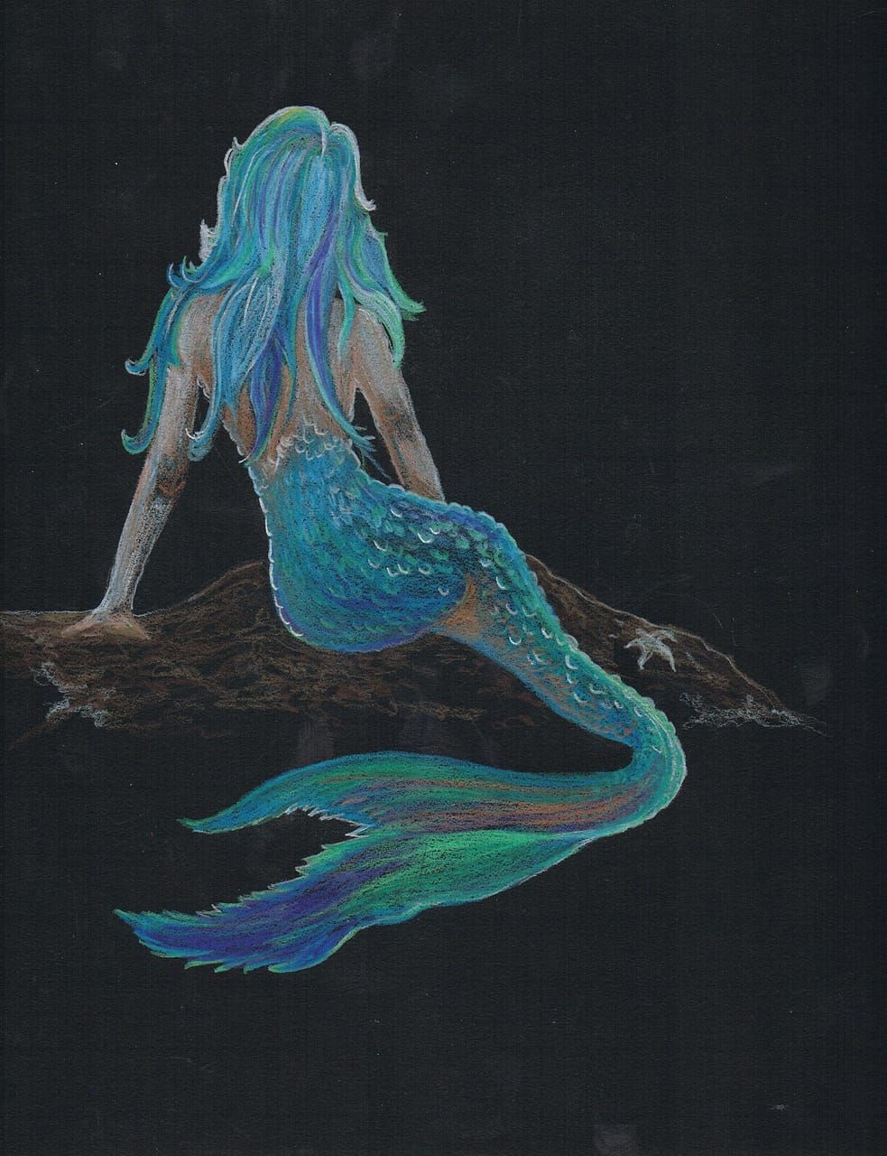 art, mermaid, mermaids and beauty