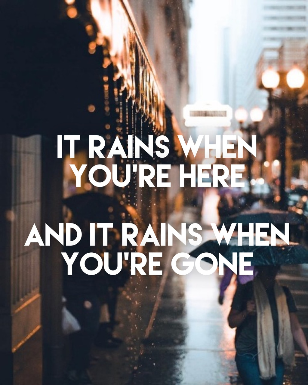 forever and always, rain and quotes