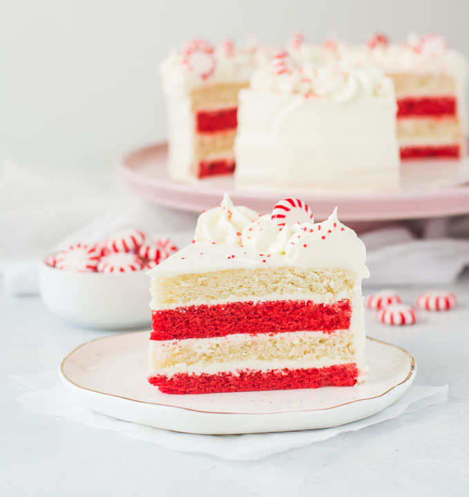 white chocolate, peppermint and cake