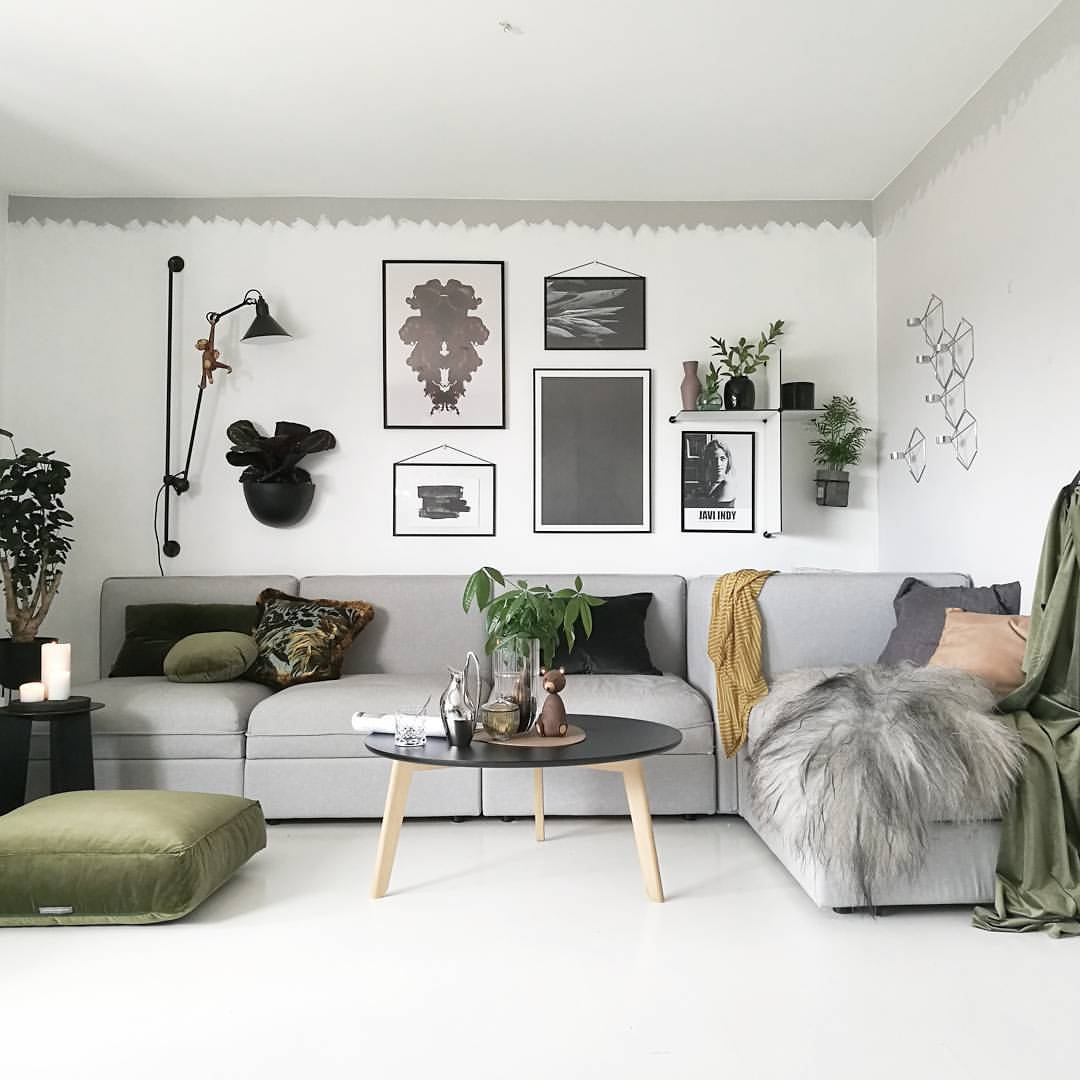 salon, home, gris and grey