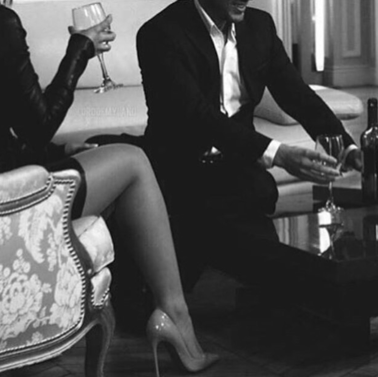 glamour, black and white, fashion and couple