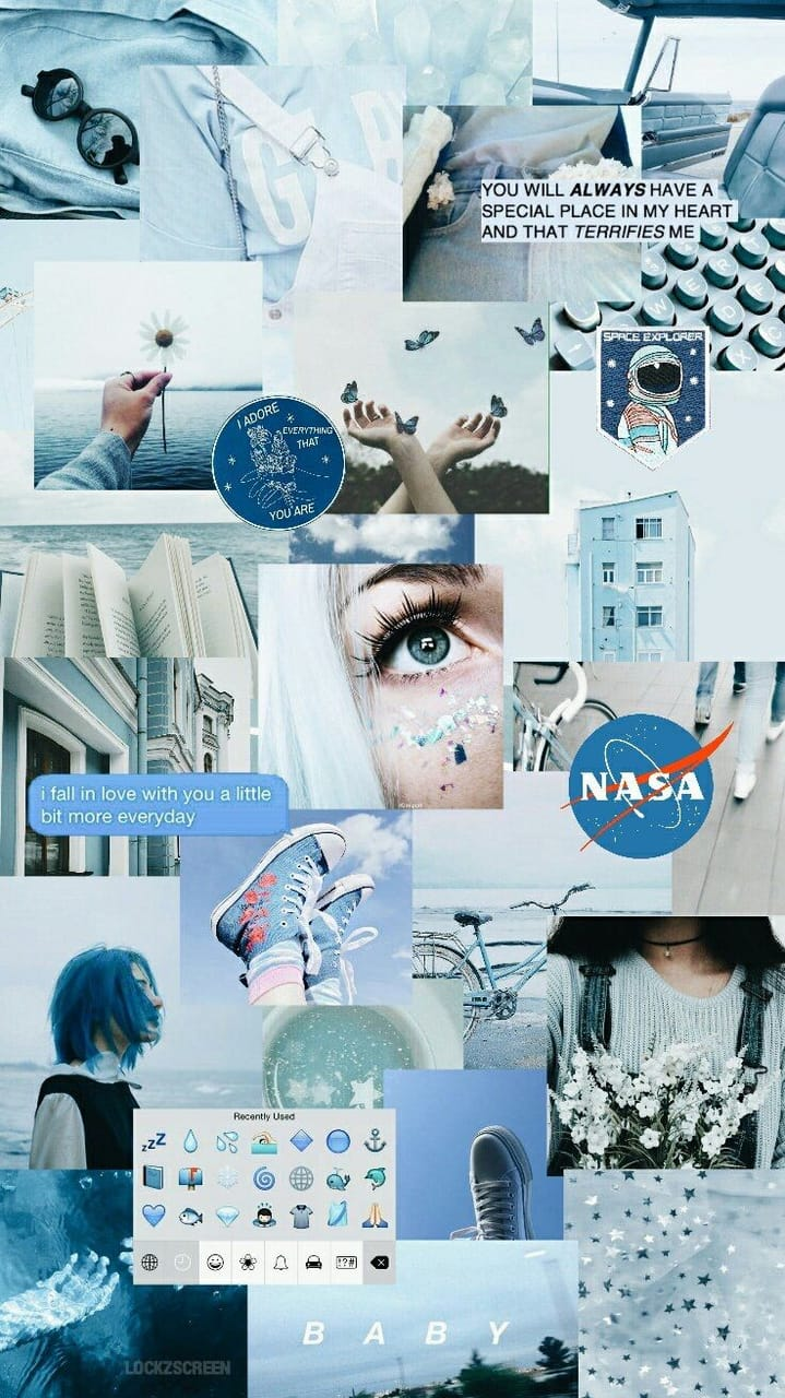 Blue Collage Collage Nasa And Wallpaper Image 6492504 On
